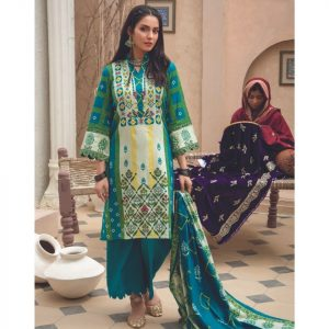 Mariam Ayesha Unstitched 3pc Printed Cambric Suit d-04A