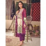 Mariam Ayesha Unstitched 3pc Printed Cambric Suit d-04B