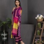 Rang Reza Mid Summer by Z.S 3pc Unstitched Printed Cotton Suit d-01