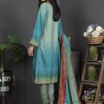 Rang Reza Mid Summer by Z.S 3pc Unstitched Printed Cotton Suit d-03