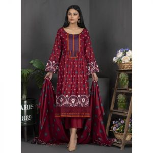 Rang Reza Mid Summer by Z.S 3pc Unstitched Printed Cotton Suit d-04