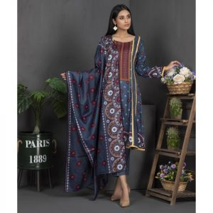 Rang Reza Mid Summer by Z.S 3pc Unstitched Printed Cotton Suit d-05