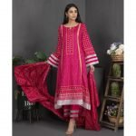 Rang Reza Mid Summer by Z.S 3pc Unstitched Printed Cotton Suit d-08