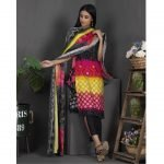 Rang Reza Mid Summer by Z.S 3pc Unstitched Printed Cotton Suit d-10