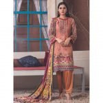 The New Vintage by MTF Embroidered Linen Qutail 3pc Suit d-01