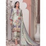 The New Vintage by MTF Embroidered Linen Qutail 3pc Suit d-02