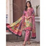 The New Vintage by MTF Embroidered Linen Qutail 3pc Suit d-03
