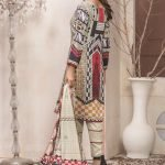 The New Vintage by MTF Embroidered Linen Qutail 3pc Suit d-04