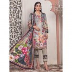 The New Vintage by MTF Embroidered Linen Qutail 3pc Suit d-06