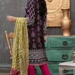 Qissa by Amna Khadija Unstitched 3pc Printed Viscose with Mirror Work Suit d-01