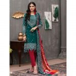 Qissa by Amna Khadija Unstitched 3pc Printed Viscose with Mirror Work Suit d-02