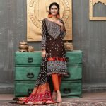 Qissa by Amna Khadija Unstitched 3pc Printed Viscose with Mirror Work Suit d-04