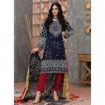 Qissa by Amna Khadija Unstitched 3pc Printed Viscose with Mirror Work Suit d-05