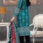 Qissa by Amna Khadija Unstitched 3pc Printed Viscose with Mirror Work Suit d-06