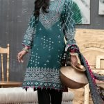 Qissa by Amna Khadija Unstitched 3pc Printed Viscose with Mirror Work Suit d-11